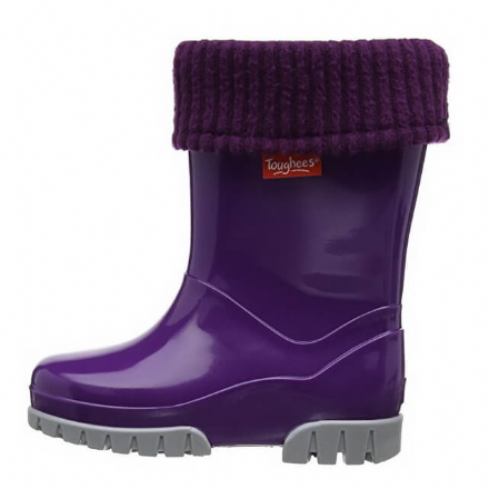 Demar/Toughees WELLIES With Fleece Sock (Purple)